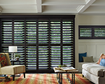 Heritance® hardwood shutters with ByPass Track system