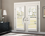 Heritance&reg; hardwood shutters with TruView<sup>TM</sup> Rear Tilt